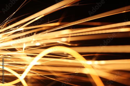 Closeup of sparks