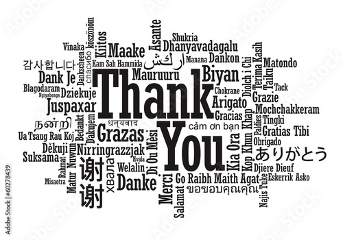 Thank You Word Cloud in vector format #60278439