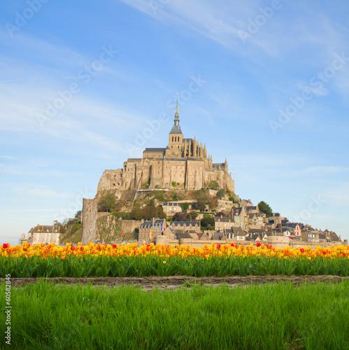 Canvas Print mount of Mont Saint Michel, France