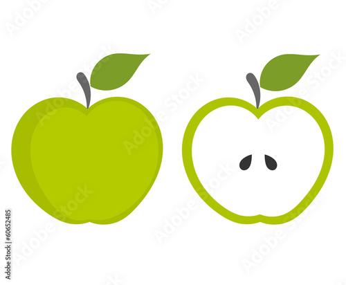 Fotografiet Green apple