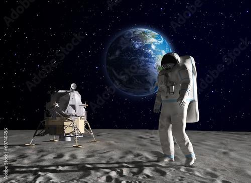 Photo Astronaut on the Moon