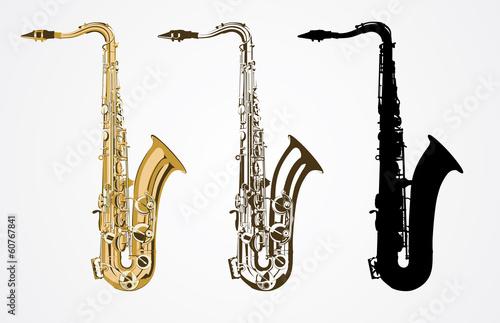 Photo Classical saxophone vector