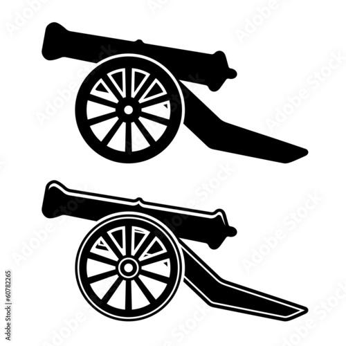 vector ancient cannon symbol Fotobehang