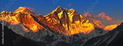 Fotografia Everest at sunset. View from Namche Bazaar, Nepal