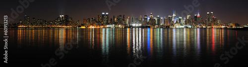 New York City Manhattan midtown skyline at night #60913213