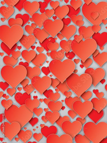 Hearts and Valentine`s day