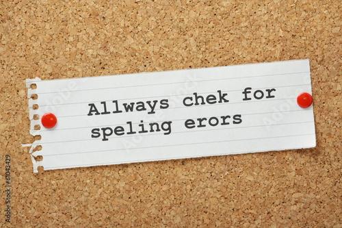 Wallpaper Mural Always Check For Spelling Errors Concept
