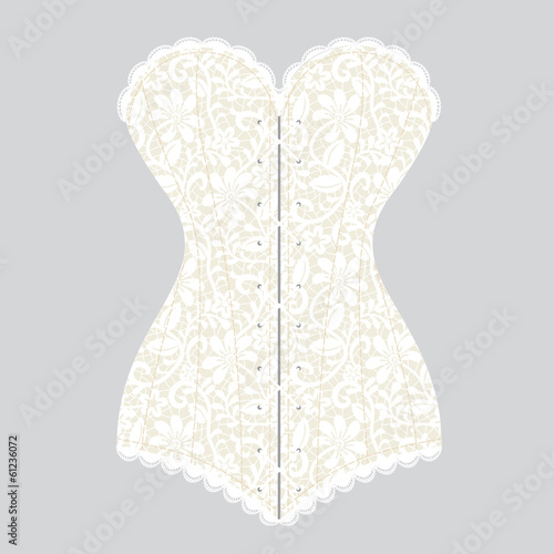 vintage corset Fototapet