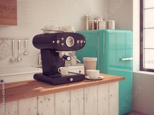 Foto espressomaschine