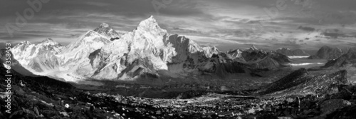evening view of Everest and Nuptse