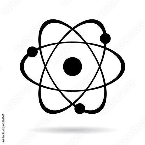 Fotografia Vector atom icon