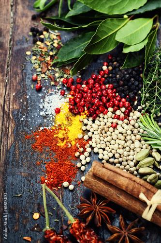 Fototapeta premium Przyprawy i zioła