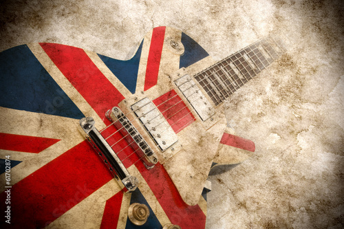 grunge british pop guitar Fototapeta