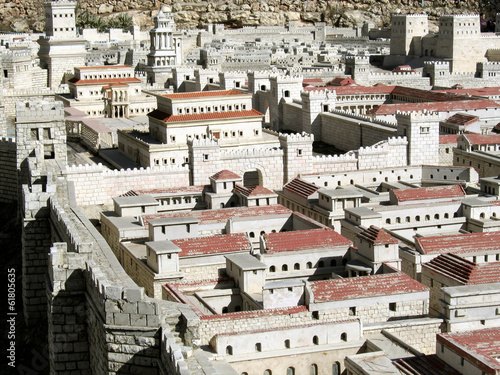 Fotografie, Tablou Palaces of the High Priest Caiaphas and Herod
