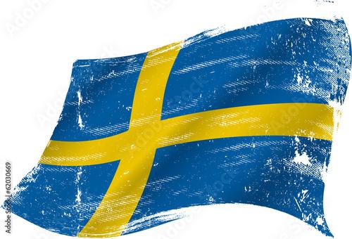 Wallpaper Mural Swedish grunge flag