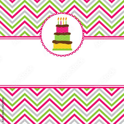 Fotografia Happy Birthday invitation card template