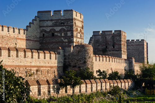 City walls of Istanbul, Turkey Fototapete