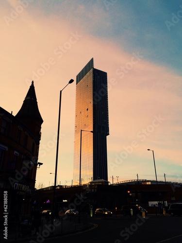 Billede på lærred Beetham Sunset