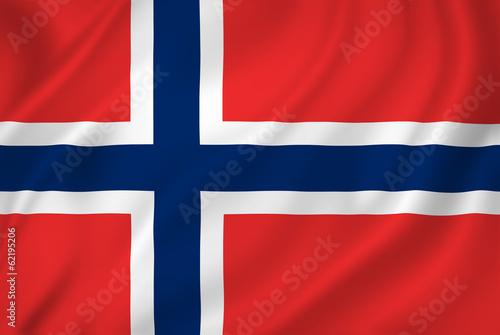 Wallpaper Mural Norway flag