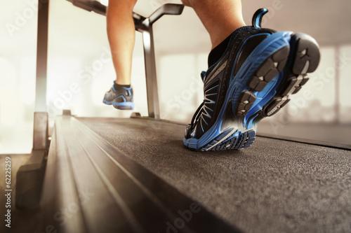 Obraz na płótnie Running on treadmill