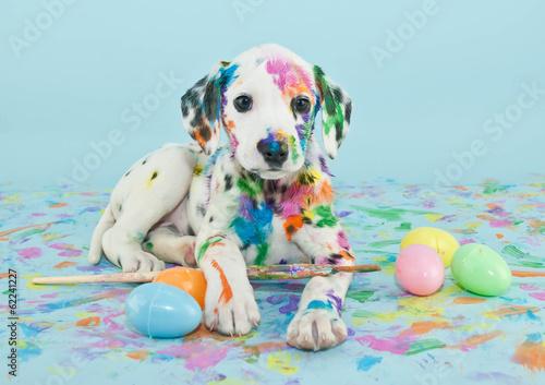 Wallpaper Mural Easter Dalmatain Puppy