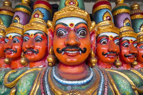 Ten Headed Ravana vahana in Kapaleeshvarar temple in Chennai
