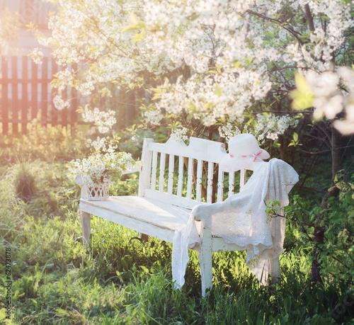 Obraz na plátne garden bench