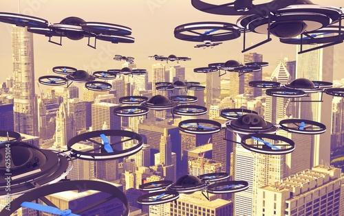 Obraz na plátne Drones Invasion