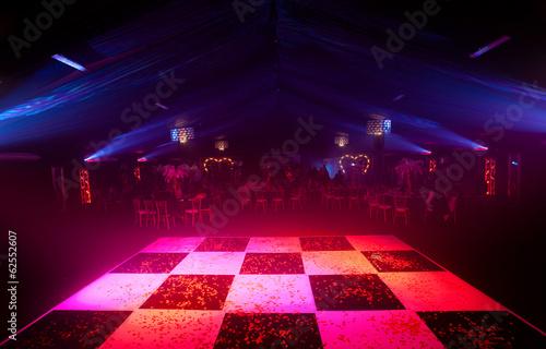 Glowing Chequered Dancefloor