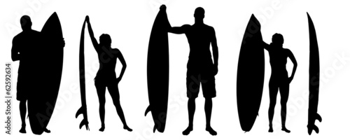 Vector silhouette of a people. #62592634