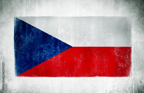 Wallpaper Mural Painting Of The National Flag Of Czech Republic