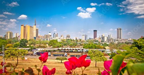 Canvas Print Panoramic view on Nairobi , Kenia.