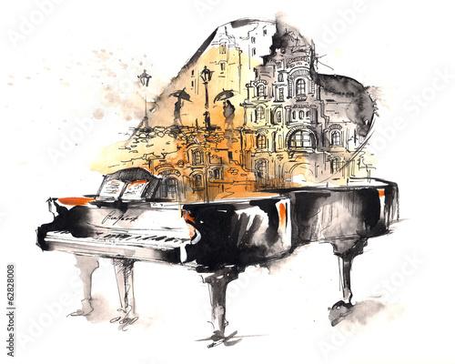 Fototapeta premium fortepian