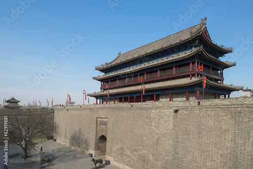 the ancient city wall of xi'an