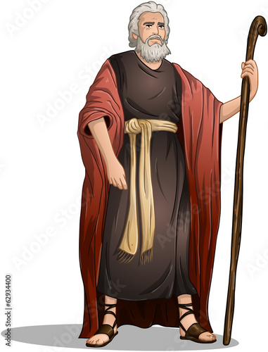 Fototapeta Moses From Bible For Passover