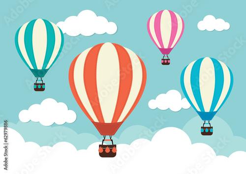 Fototapeta Hot Air Balloons and Clouds