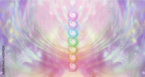 Tablou Canvas Seven Chakra Vortex Website Banner