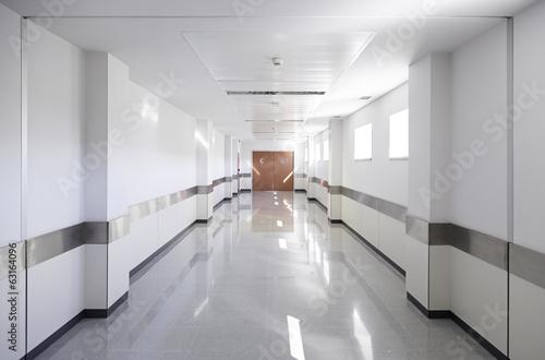 Fotografering Hall of deep hospital