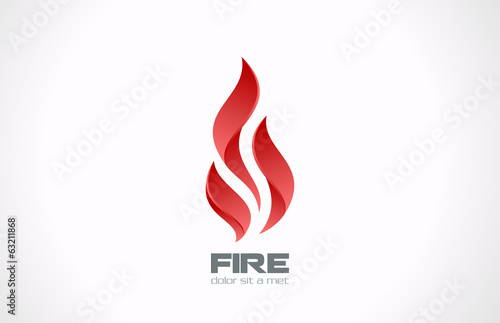 Valokuva Fire Flame vector logo design. Tongues of flame creative icon