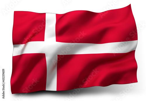 flag of Denmark Fotobehang