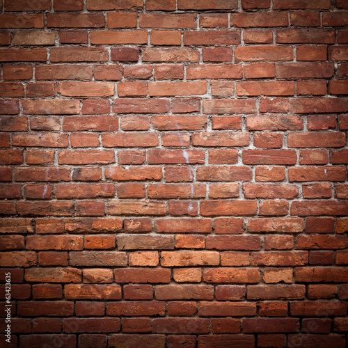 Old grunge red brick wall texture