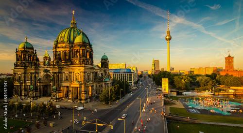 Naklejka na szafę Berlin - widok na miasto
