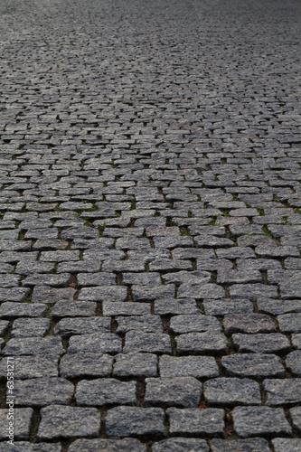 Fototapeta cobblestone street perspective
