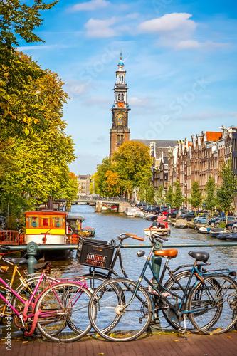 Fototapeta premium Kanał Prinsengracht w Amsterdamie