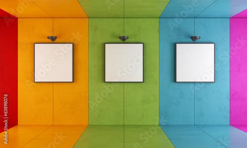 Canvas-taulu Colorful modern art gallery