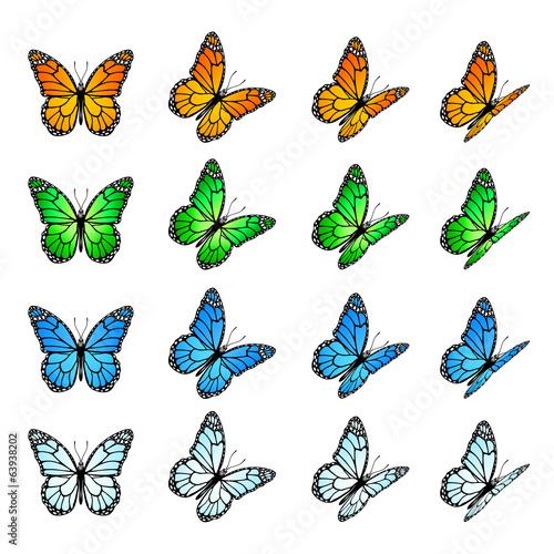 Set of butterflies #63938202