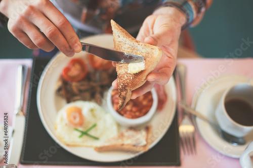 Billede på lærred Eating breakfast