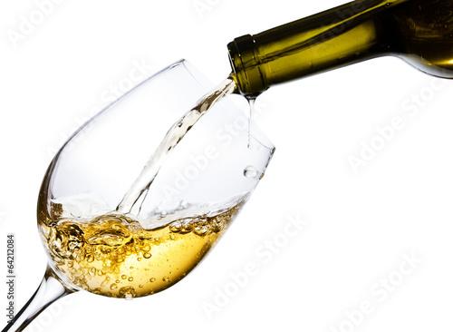 Fotografie, Obraz Bílé víno na bílém pozadí