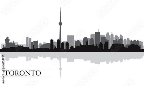Canvas Print Toronto city skyline silhouette background