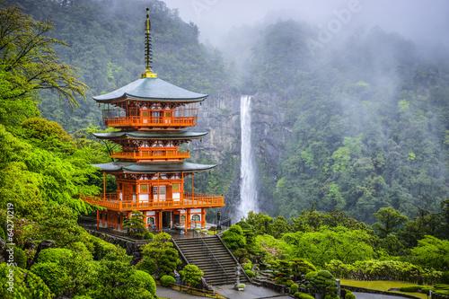 Obraz na plátně Nachi, Japan at Kumano Nachi Taisha Shrine and Waterfall